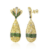 Boucles d'oreilles en or et Grenat Tsavorite (Dallas Prince Designs)