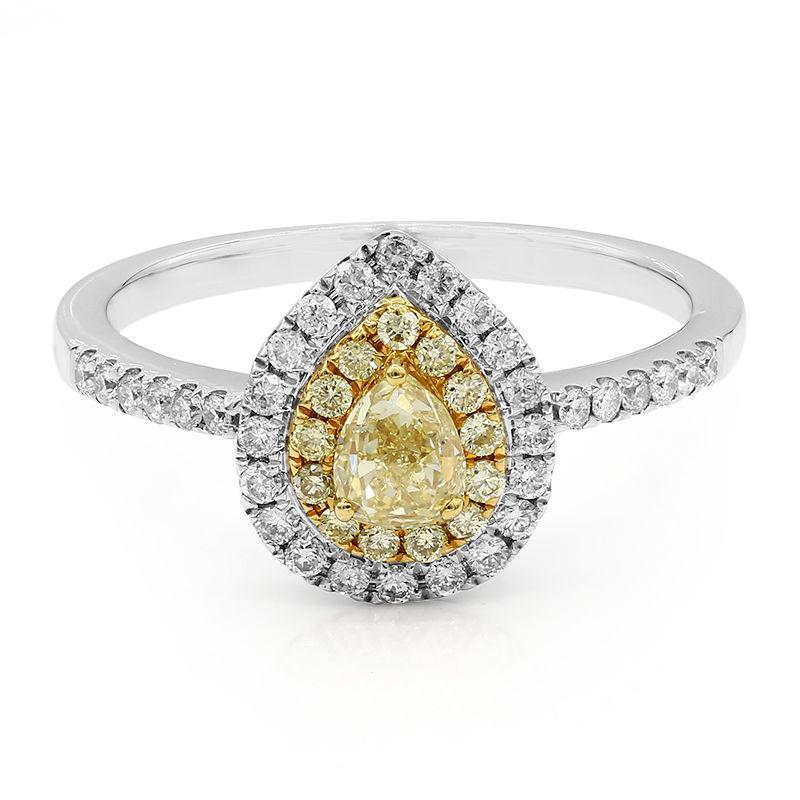 bague diamant jaune