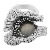Bague en argent et Perle de culture de Tahiti (MONOSONO COLLECTION)