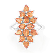 Bague en or et Saphir orange