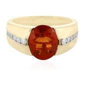 Bague en or et Tourmaline orange (de Melo)