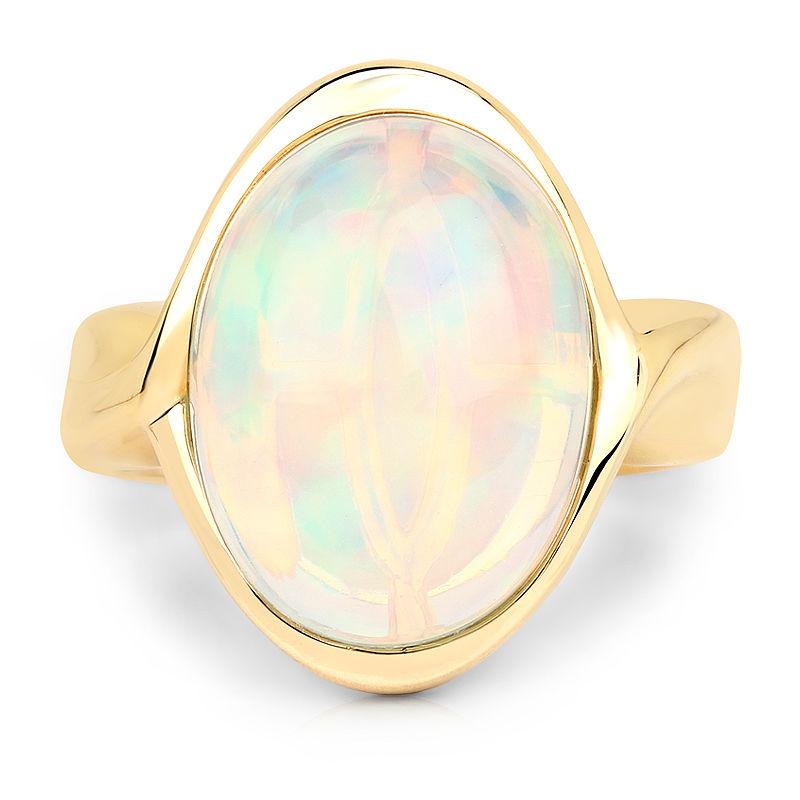 opale bague or