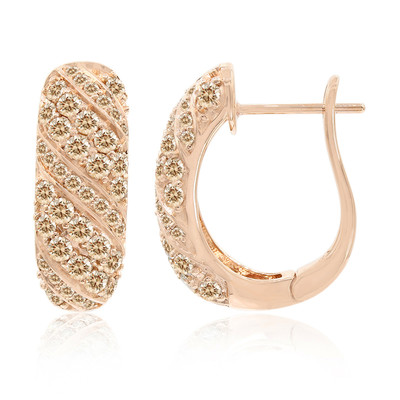 Boucles d'oreilles en or et Diamant Rose de France SI (Annette)