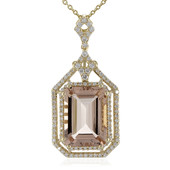 Collier en or et Morganite AAA de Madagascar (de Melo)