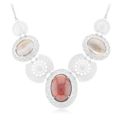 Collier en argent et Grenat Hessonite