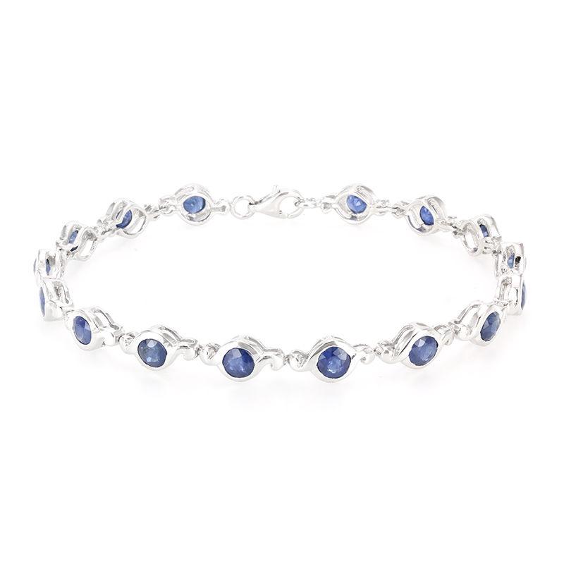 bracelet argent saphir femme