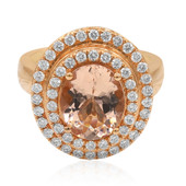 Bague en or et Morganite AAA