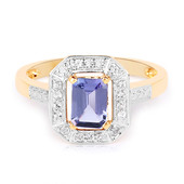 Bague en or et Tanzanite