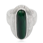 Bague en argent et Malachite (MONOSONO COLLECTION)