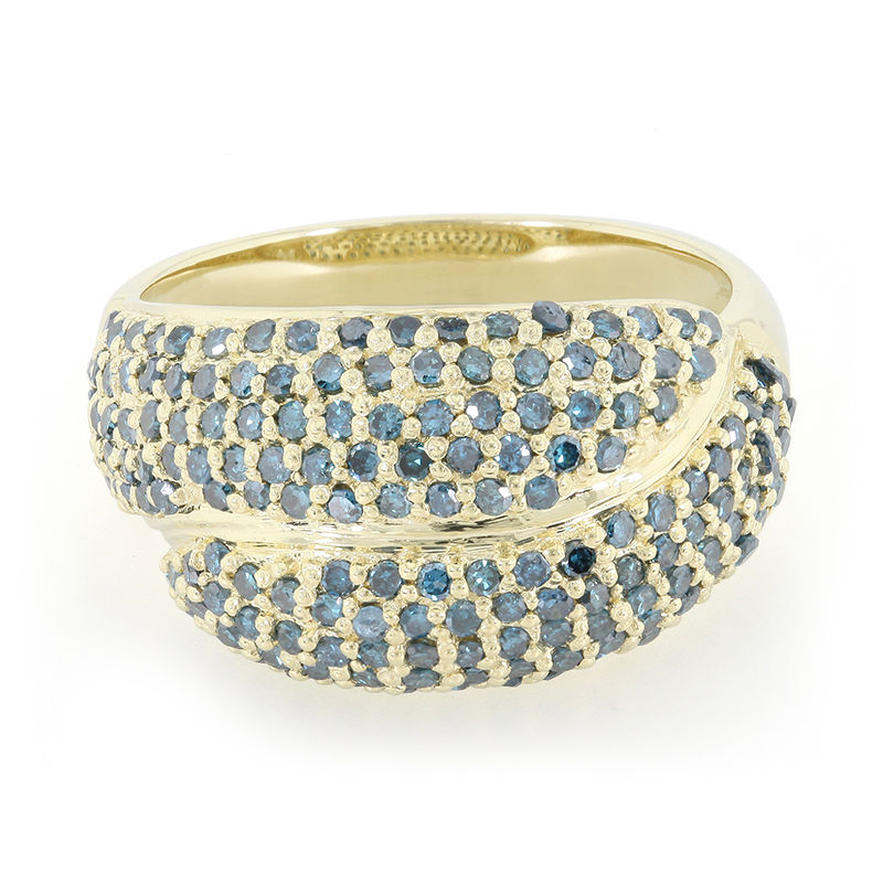 bague or diamant bleu