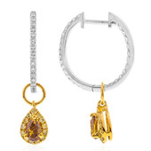 Boucles d'oreilles en or et Diamant SI orange (CIRARI)