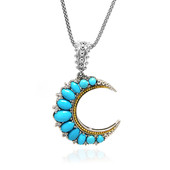 Collier en argent et Turquoise Sleeping Beauty (Dallas Prince Designs)