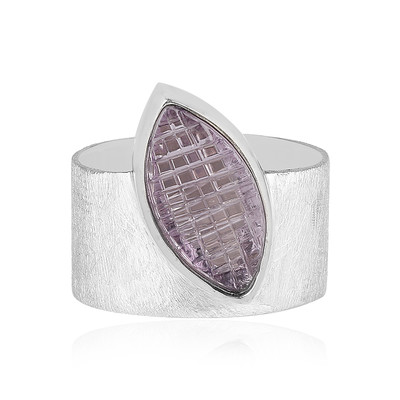 Bague en argent et Améthyste Rose de France (MONOSONO COLLECTION)