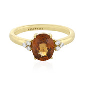 Bague en or et Zircon orange