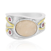 Bague en argent et Morganite (MONOSONO COLLECTION)