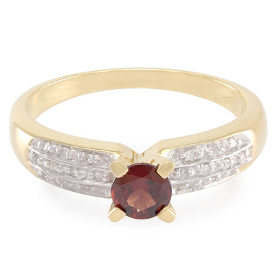 Bague en or et Zircon cannelle