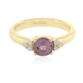 Bague en or et Spinelle rose de Birmanie