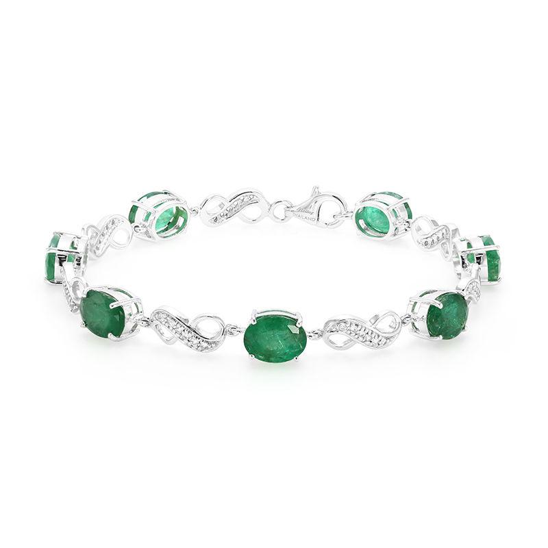 bracelet argent emeraude