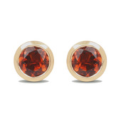 Boucles d'oreilles en or et Tourmaline orange