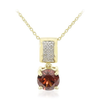 Collier en or et Zircon rose (Molloy)