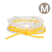 Bracelet en argent et Calcite Orange
