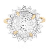 Bague en or et Topaze blanc royal (PHANTASIA)