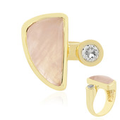 Bague en argent et Quartz rose (MONOSONO COLLECTION)