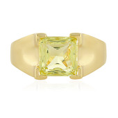 Bague en argent et Quartz citron (MONOSONO COLLECTION)