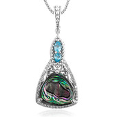 Collier en argent et Coquillage d'Abalone (Dallas Prince Designs)