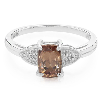 Bague en or et Zircon rose (Molloy)