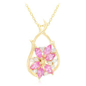 Collier en or et Saphir rose de Ceylan (Molloy)