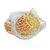 Bague en argent et Saphir orange (Memories by Vincent)