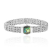 Bracelet en argent et Coquillage d'Abalone (Nan Collection)