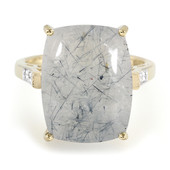 Bague en or et Quartz rutile de Mutuca