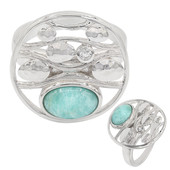 Bague en argent et Amazonite (MONOSONO COLLECTION)