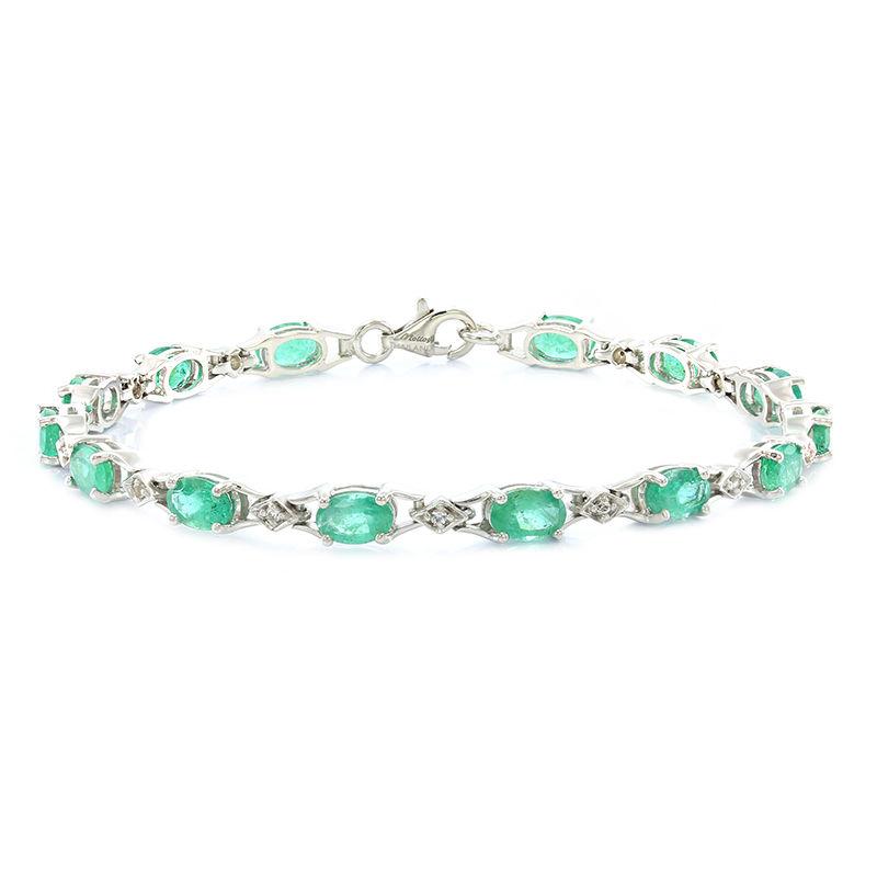 bracelet femme argent emeraude