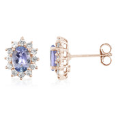Boucles d'oreilles en or et Tanzanite Fancy