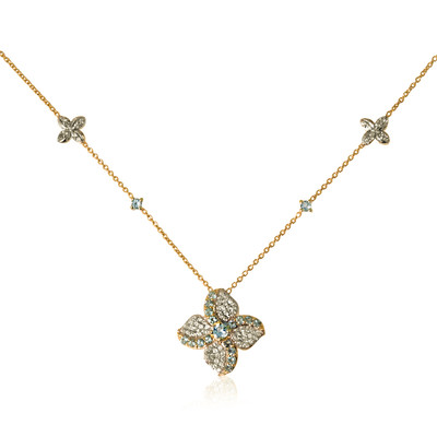Collier en or et Aigue-marine (La Revelle)
