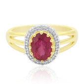 Bague en or et Tourmaline rose de Californie