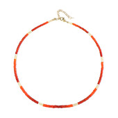 Collier en argent et Opale orange