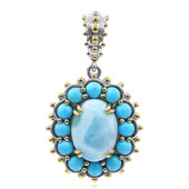 Collier en argent et Larimar (Dallas Prince Designs)