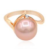 Bague en or et Perle Ming rose royal (TPC)