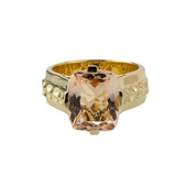 Bague en or et Morganite AAA (de Melo)
