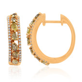 Boucles d'oreilles en or et Diamant orange (CIRARI)