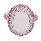 Bague en or et Quartz rose