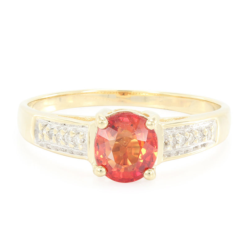 bague or et rubis rouge
