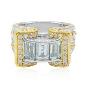 Bague en argent et Aigue-marine (Dallas Prince Designs)