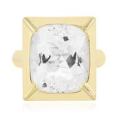 Bague en argent et Quartz blanc (MONOSONO COLLECTION)