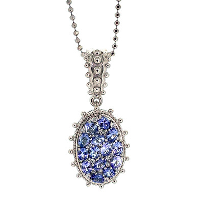 Collier en argent et Tanzanite (Dallas Prince Designs)