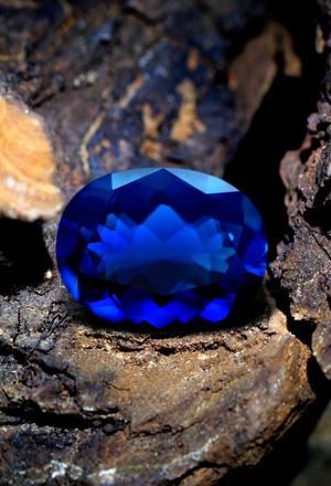 Opale de Feu bleue
